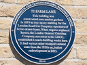 72 Farm Lane (former horse-drawn bus stabling) (id=2193)
