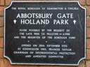 Abbotsbury Gate Holland Park (id=4383)