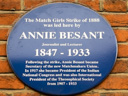 Besant, Annie - Match Girls Strike - Theosophical Society - Indian National Congress (id=1701)