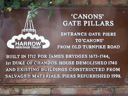 Canons Gate Pillars - Chandos, Earl of (Brydges, James) (id=3148)