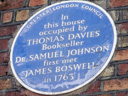 Davies, Thomas - Johnson, Doctor Samuel - Boswell, James (id=291)