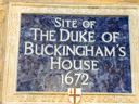 Duke of Buckinghams House Site (id=1894)