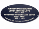 Harmsworth, Alfred�(Lord Northcliffe) (id=498)