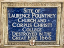 Laurence Pountney Church Site and Corpus Christi College Site (id=1874)
