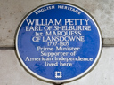Petty, William (Earl of Shelburne, Marquess of Landsdowne) (id=862)