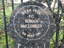 Police Plaque-Ronan McCloskey (id=2677)