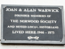 Warwick, Joan - Warwick, Alan - Norwood Society (id=3666)